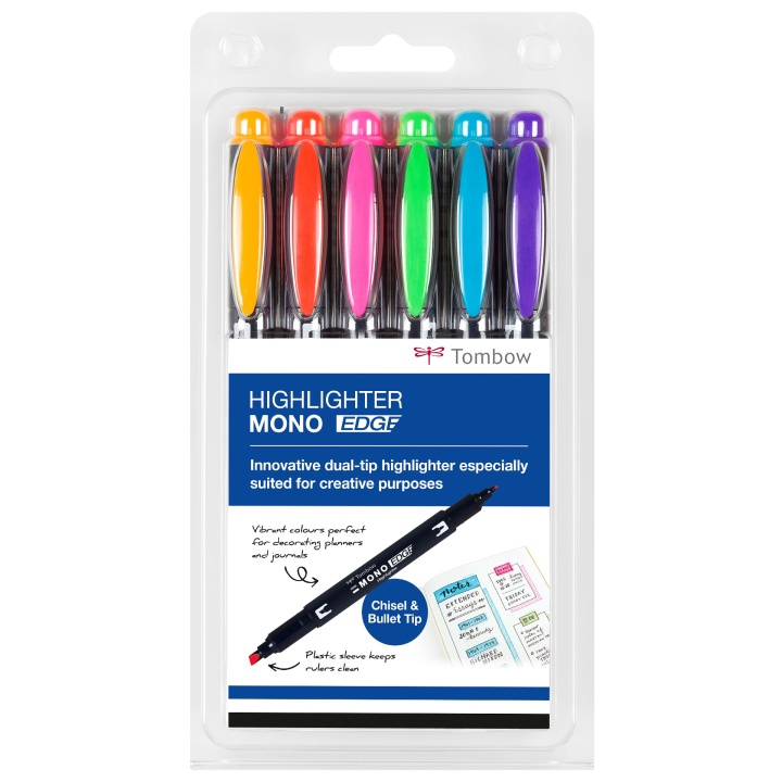 Highlighter MONO Edge 6-sæt i gruppen Penne / Mærkning og kontor / Highlighters hos Pen Store (101111)