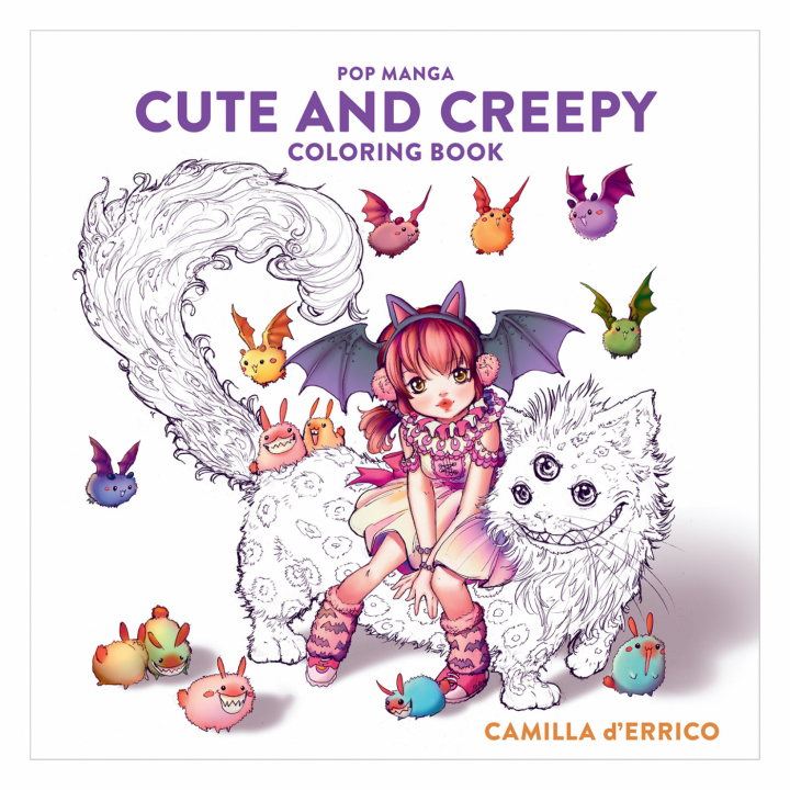 Pop Manga: Cute and Creepy Coloring Book i gruppen Hobby & Kreativitet / Bøger / Malebøger til voksne hos Pen Store (112447)
