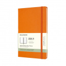 Kalender 2021 18M Hardcover Weekly Notebook Large Orange