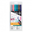 ABT Dual Brush pen 6-set Vintage
